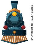 train design on white... | Shutterstock .eps vector #616486088
