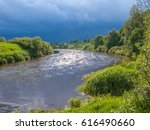 view on zhizdra river valley in ...   Shutterstock . vector #616490660