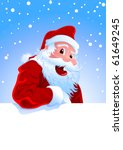 happy santa claus over white... | Shutterstock .eps vector #61649245