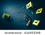 high contrast image of a crime... | Shutterstock . vector #616493348