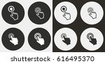 touch vector icons set.... | Shutterstock .eps vector #616495370