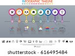 infographic design vector and... | Shutterstock .eps vector #616495484
