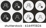 account vector icons set.... | Shutterstock .eps vector #616495826