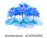 watercolor illustration   a... | Shutterstock . vector #616502690