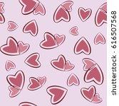 hearts seamless pattern. vector | Shutterstock .eps vector #616507568
