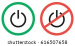 round green sign on to turn... | Shutterstock .eps vector #616507658