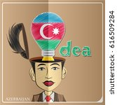 idea bulb made from the flag of ... | Shutterstock .eps vector #616509284