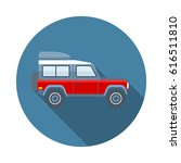off road car flat icon with... | Shutterstock .eps vector #616511810