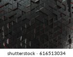 pattern of black triangle... | Shutterstock . vector #616513034