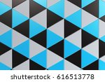 pattern of black  white and... | Shutterstock . vector #616513778