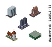 isometric building set of... | Shutterstock .eps vector #616515458
