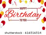 creative birthday card with...   Shutterstock .eps vector #616516514