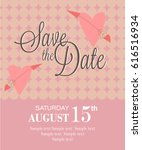 save the date invitation card | Shutterstock .eps vector #616516934