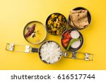 typical stainless steel lunch... | Shutterstock . vector #616517744