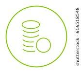 coins money line vector icon | Shutterstock .eps vector #616518548