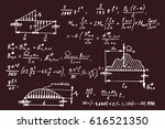 physical notation with the... | Shutterstock .eps vector #616521350