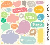 set of hand drawn speech and...   Shutterstock .eps vector #616521926