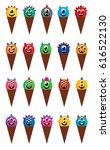 cute monster ice cream cone... | Shutterstock .eps vector #616522130