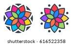 simple geometric mandala... | Shutterstock .eps vector #616522358