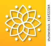 simple geometric mandala... | Shutterstock .eps vector #616522364