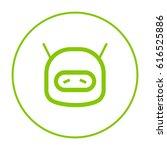 technology sad robot line... | Shutterstock .eps vector #616525886