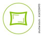 pillow line vector icon | Shutterstock .eps vector #616528493