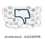 social network concept  painted ... | Shutterstock . vector #616530998