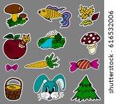 a set of fashion labels  badges.... | Shutterstock . vector #616532006