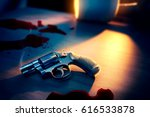 high contrast image of a bloody ... | Shutterstock . vector #616533878