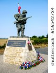 Small photo of SAINTE MARIE DU MONT, France June 7 2016, A monument to Maj. Richard Winters, who led paratroopers from Company E, 2nd Battalion, 506th PIR, 101st Airborne Division, during the D-Day landings.