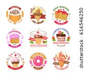 set of confectionery logos... | Shutterstock . vector #616546250