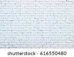 white painted brick wall... | Shutterstock . vector #616550480