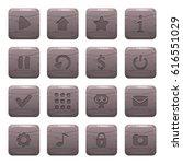 set of 16 square rock  stone...