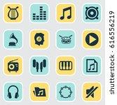 multimedia icons set.... | Shutterstock .eps vector #616556219