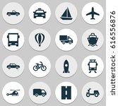 transportation icons set.... | Shutterstock .eps vector #616556876