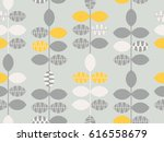 seamless retro pattern with... | Shutterstock .eps vector #616558679