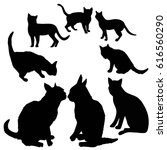 cat silhouette   vector ...   Shutterstock .eps vector #616560290