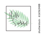 hello summer   seasonal... | Shutterstock .eps vector #616563488