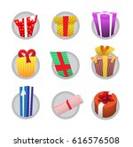 colorful gifts isolated on grey ... | Shutterstock . vector #616576508