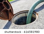 emptying septic tank  cleaning... | Shutterstock . vector #616581980