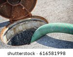 emptying septic tank  cleaning... | Shutterstock . vector #616581998