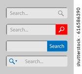 web search field. search bar... | Shutterstock .eps vector #616586390