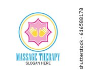 massage therapy logo with text... | Shutterstock .eps vector #616588178