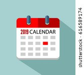 calendar 2019 vector eps 10 | Shutterstock .eps vector #616589174