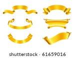 gold ribbons  set | Shutterstock .eps vector #61659016