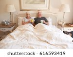 portrait of a smiling and... | Shutterstock . vector #616593419