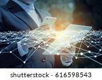 business network concept.... | Shutterstock . vector #616598543