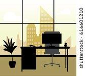 office interior window showing... | Shutterstock . vector #616601210