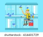 industrial mountaineering... | Shutterstock . vector #616601729