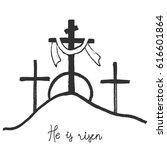easter morning. faith. calvary... | Shutterstock .eps vector #616601864